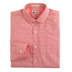 Thomas Mason® for J.Crew Ludlow shirt in calypso orange- great coral color