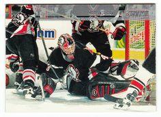 Martin Biron # 55 - 2002-03 Topps Stadium Club Hockey Silver Decoy