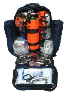 Dixie Ems Ultimate Pro Trauma O2 First Responder Medic Oxygen Backpack Denier Cordura Gear Bag => Want to know more, visit the site now : Camping gear