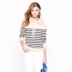 Stripe hoodie, J.Crew | I am all about the chic hoodie right now.