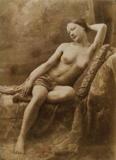 Photograph by Jean Louis Marie Eugène Durieu - Part of a series made with Eugène Delacroix - Delacroix used a similar pose for his painting Odalisque Robert Mapplethorpe, Edward Weston, Diane Arbus, Annie Leibovitz, History Of Photography, Nude Photography, Pablo Picasso, Fine Art Photo, Photo Art