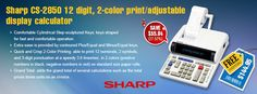 #Sharp #CS2850 12 digit, 2-color print/adjustable display #calculator  Best in class for #ultimate #experience. Steel our #bestseller at #affordable price of $144.95 with #freeshipping.