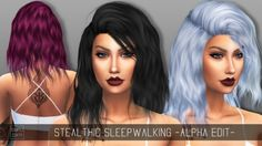Simpliciaty: Stealthic's Sleepwalking Alpha Edit • Sims 4 Downloads