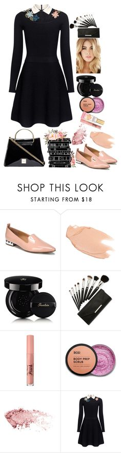 """Gone Rogue"" by felicitysparks ❤ liked on Polyvore featuring Franco Sarto, Too Faced Cosmetics, Guerlain and RED Valentino"