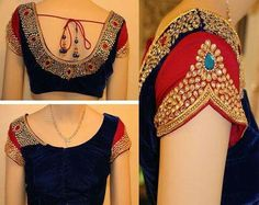 Latest saree blouse designs Latest wedding blouse designs for 2016 party wear. Blouse neck and blouse back designs that are trend now. Top best blouse designs for wedding fashion trend. Sari Blouse, Pattu Saree Blouse Designs, Blouse Designs Silk, Designer Blouse Patterns, Bridal Blouse Designs, Choli Designs, Saree Dress, Design Patterns, Sari Design