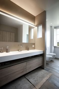 Luxury Bathroom Master Baths Dark Wood is utterly important for your home. Whether you choose the Small Bathroom Decorating Ideas or Luxury Master Bathroom Ideas, you will create the best Luxury Bathroom Master Baths Photo Galleries for your own life. Bad Inspiration, Bathroom Design Inspiration, Bathroom Renos, Small Bathroom, Bathroom Ideas, Bathroom Designs, Mirror Bathroom, Boho Bathroom, Bathroom Modern