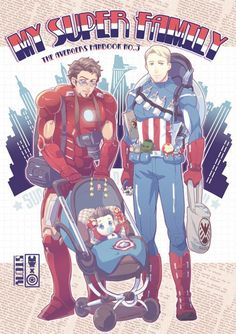 Image about stony in Avengers by elise on We Heart It Spideypool, Superfamily Avengers, Stony Avengers, Stony Superfamily, Baby Avengers, The Avengers, Marvel Fan Art, Marvel Dc Comics, Marvel Heroes