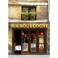 French Art Photo, Paris bistro photography, Paris cafe photograph, 5x7... ($15) ❤ liked on Polyvore