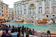 Fontana di Trevi en Roma.