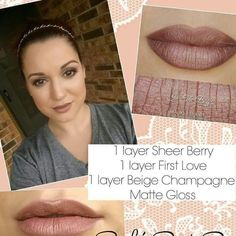 First love, sheer berry, beige champagne