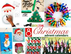 CHRISTMAS CALENDARS - 8 simple kids craft ideas