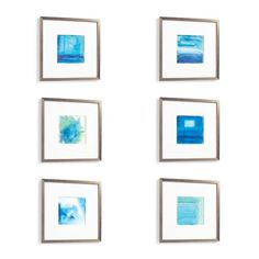 Watercolor Art, Set of Six