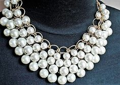 Excited to share the latest addition to my #etsy shop: Multi Strand Pearl Necklace Wedding Jewelry Chunky Necklace Statement Jewelry Bridal Necklace Pearl Jewelry Gold Necklace Gift Bib Necklace http://etsy.me/2Dherb0
