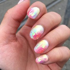 Opal nail trend will turn your nails into precious gems: Fire opal