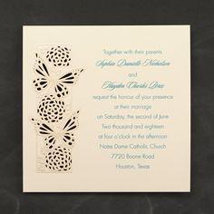 Butterfly Sensation Invitation - Wedding Invitations - Wedding Invites - Wedding Invitation Ideas - View a Proof Online - #weddings #wedding #invitations