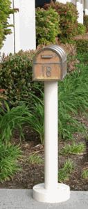 The Standard Mailbox Post & Westchester Brass Mailbox with Locking Insert Option by Streetscape Mailboxes is on sale now. New Mailbox, Victorian Mailboxes, Copper Mailbox, Custom Mailboxes, Mounted Mailbox, Life Is Good, Brass, Outdoor Decor