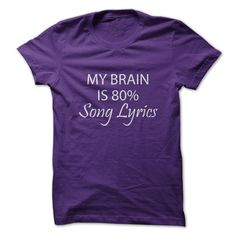 My Brain Is 80% Song Lyrics - T-Shirt – Gnarly Tees