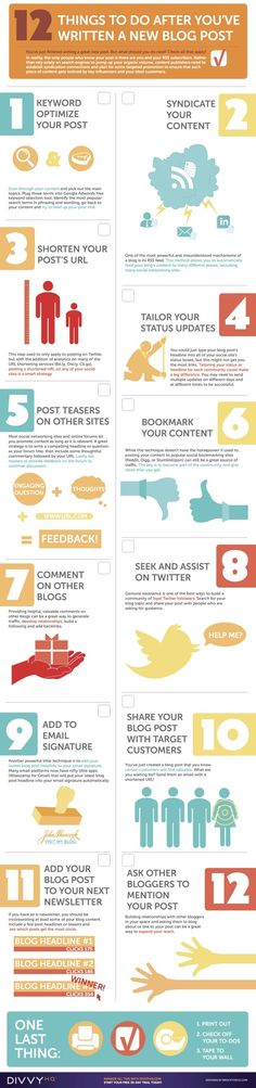 #Infographic | Your Blog Post Promotion Checklist