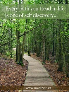 """Every path you tread in life is one of self-discovery."" ~ Daniela Masaro"
