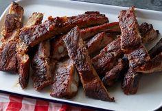 Kansas City Style Pork Ribs Recipe : Patrick and Gina Neely : Recipes : Food Network Pork Rib Recipes, Barbecue Recipes, Kebab Recipes, Grilling Recipes, Bbq Pork, Pork Ribs, Barbecued Ribs, Barbeque Sauce, Best Bbq Ribs
