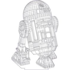 Star wars R2D2 3d illusion vector file for CNC - 3bee-studio