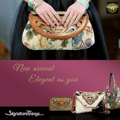 Great New Arrivals in Handbags & Purses at @ signaturethings.com 👝👛👜💼🎒  Add a classy touch to your look with brand New Collection of beautiful Ricki Designed #handbags, #Purses, #Crossbodybags, #Clutches & Much More in Women's Handbags  Find your perfect handbag that suits your personality  #SignatureThings #NewArrival #Trendy  #Ladiespurse #eveningbags #Leather #Totes #Shoulderbag #PursesOnline #hobobag #Womens #Fashion #designerhandbag #handbagseller #handbagaddict #handbagonline