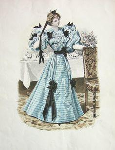 29-10-11  Dinner dress, ca 1895