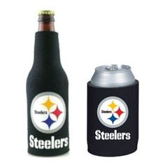 Pittsburgh Steelers Can & Bottle Koozie Combo