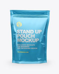 Matte Metallic Stand Up Pouch Mockup. Includes special layers and smart objects for your work.Includes golden layer for your design. Bag Mockup, Phone Mockup, Mockup Templates, Design Templates, Pouch Packaging, No Photoshop, Packaging Design Inspiration, Coffee Coffee, Mockup Generator