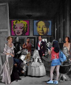 Lluis Barba, Travelers in Time Series The Meninas, Velazquez, 2008 Guernica, Modern Artists, Contemporary Artists, Diego Velazquez, Street Art, Arte Pop, Photomontage, Funny Art, Art Fair