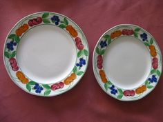 Royal Tudor plates x 2. one is a dinner plate the other an entree, both have some crazing to the clear glaze but still in good condition. would make a great 2 tier cake stand. $14 +pp to Australia only.