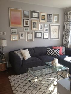 Andrea + Kris + Our Chaos: Living Room Makeover | Building a Gallery Wall
