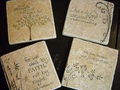 Hand Stamped Bible Verse Inspirational by YellowFlowerDesigns, $14.00