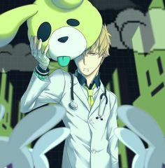 Noiz con su disfraz que usa cuando pelea en rhyme Anime Guys With Glasses, Hot Anime Guys, Anime Boys, Nocturne, Manga Boy, Manga Anime, Anime Art, Overwatch, Noiz Dmmd