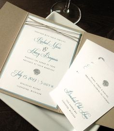 Beach Wedding Invitation with pocket....love...Navy backdrop and Coral lettering?!