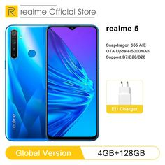 """Global Version realme 5 4GB RAM 128GB ROM 6.5"""" Moblie Phone Snapdragon 665 AIE Octa Core Cellphone 5000mAh Smartphone Price: 1350.98 & FREE Shipping #followme Smartphone Price, 4gb Ram, Special Promotion, Natural Disasters, You Can Do, Core, Positivity, Free Shipping, Public"""