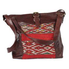 Savannah Kilim Bag Brown, by Bohemia ! Hippie Style, My Style, Sweet Style, Mega Sena, Ethnic Bag, Carpet Bag, Unique Purses, Leather Design, Handbags On Sale