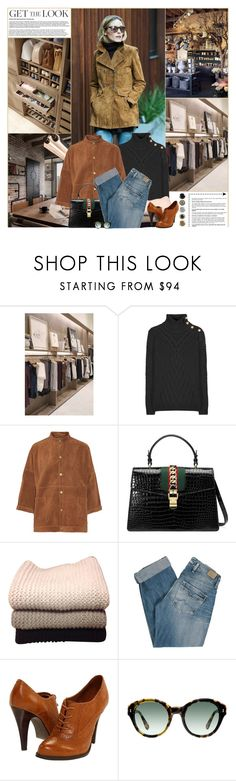 """""""Get The Look: Winter Style"""" by kittyfantastica ❤ liked on Polyvore featuring Balmain, Current/Elliott, Gucci, IRIS VON ARNIM, Pepe Jeans London and ALDO"""