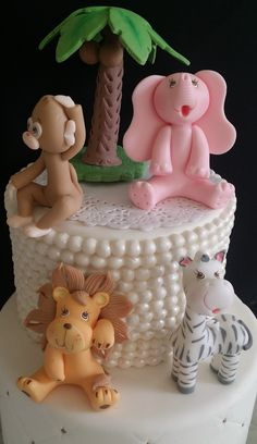 Cute animals set for Girls can be used on Cakes Decoration, Centerpieces, Diaper Cakes, as Party favors and to Decorate guess tables and other safari and jungle theme decorations Animals are Approx 3.