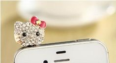 Hello Kitty Crystal Iphone Plug