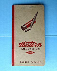 Vintage 1920's 1930's Western Ammunition Pocket Catalog Book List Prices Guns #WesternCartridgeCompany
