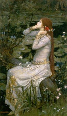 Titre de l'image : John William Waterhouse - Ophelia.