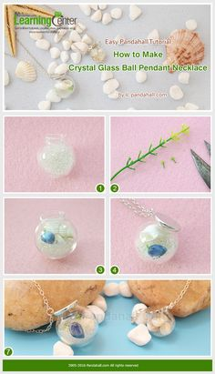 Easy Pandahall Tutorial - How to Make Crystal Glass Ball Pendant Necklace from LC.Pandahall.com