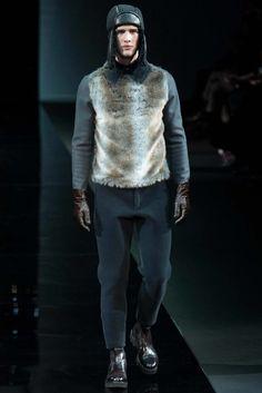 Emporio Armani Fall / Winter 2014 - Man in Fur Pullover