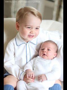 Prince George and Princess Charlotte (May 2015)