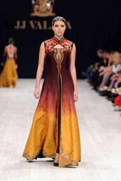 Latest J J Valava Pakistani Indian and western Bridal wear Party Dresses 2014 (1)
