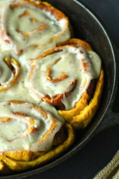 Hey there beauty! Pumpkin Cinnamon Rolls with Brown Butter Cream Cheese Frosting - The Seaside Baker #fall