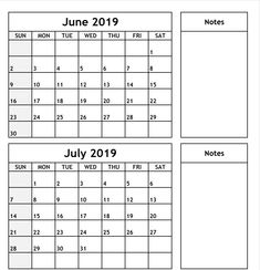 - All 12 Month Calendar Printable::Calendar June To July 2019