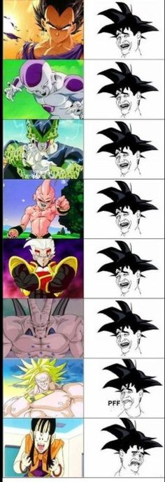 Goku's worst enemy, marriage. chichi is a bitch. i wish they made her cooler, or paired him with someone cooler.