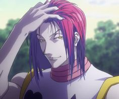 Hisoka With His Hair Down I Hate This Guy So Much And Yet Cant
